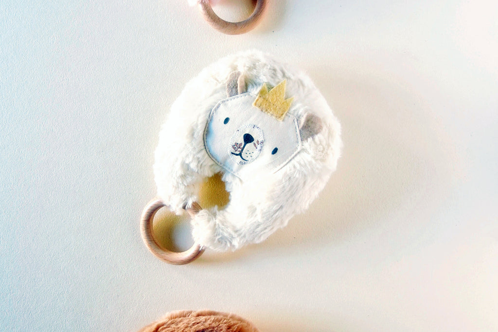 Teether Ring For Babies | white bear