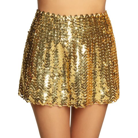 Jupe sequins - or