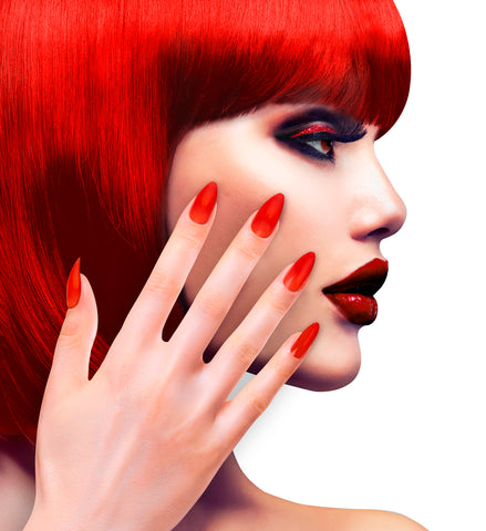 Faux ongles rouges par 12