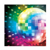 16 serviettes Disco 33x33 - multicolore