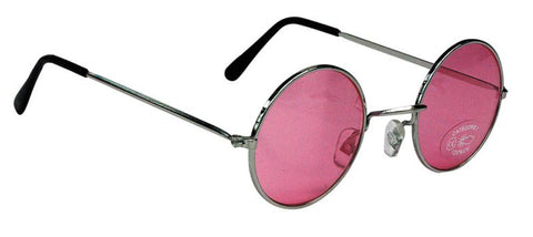 lunettes roses hippies