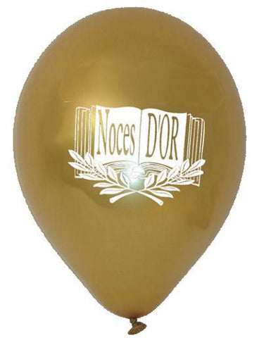 10 ballons noces d'or
