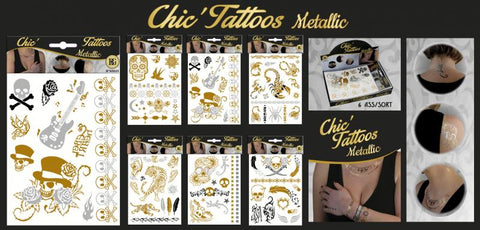 tattoos metallic