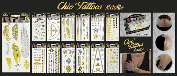 tattoos metallic or / argent