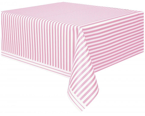 nappe plastique rayures - rose