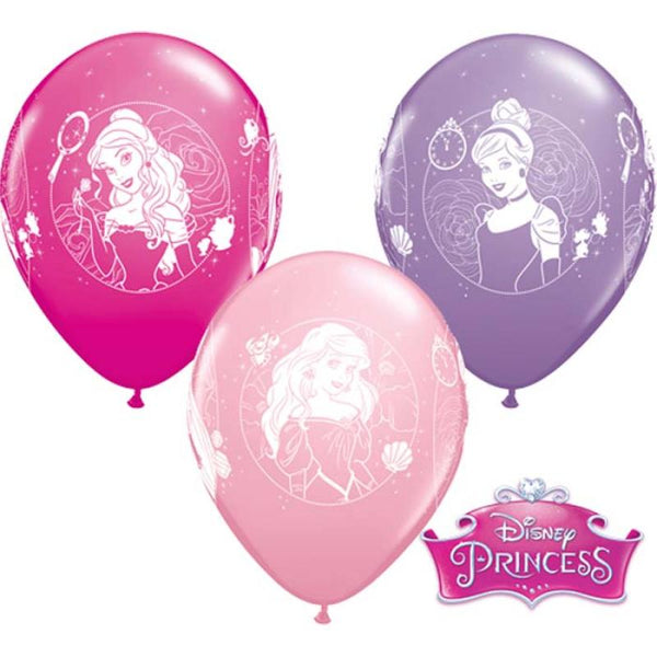 6 ballons princesses disney