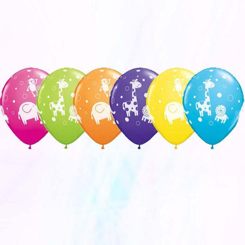 6 ballons animaux