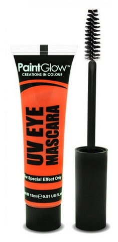 Maquillage mascara uv orange