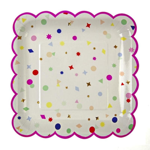 Table & jetable 8 assiettes confettis - Vivafiesta
