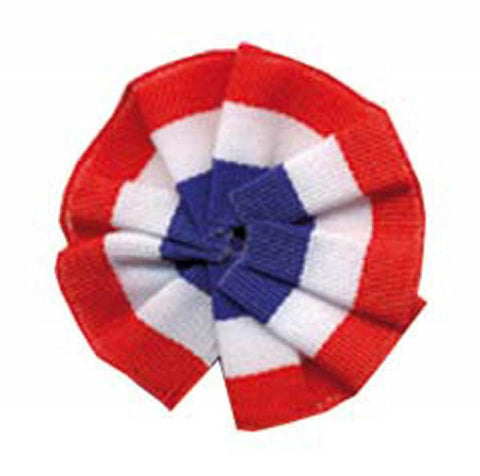 cocarde tissu tricolore 5cm + epingle