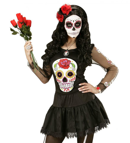 déguisement tshirt day of the dead femme