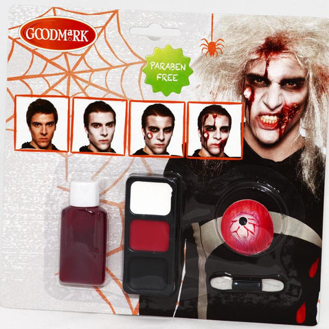 maquillage kit zombie homme