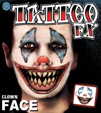 tatouage visage clown