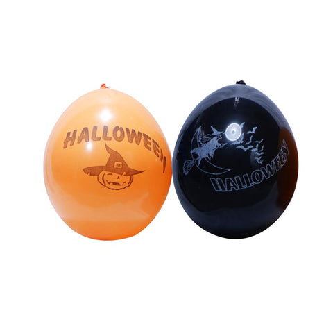 ballons halloween par 8 - orange / noir
