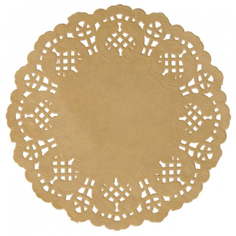 Table & jetable 10 sets de table papier dentelle kraft - Vivafiesta