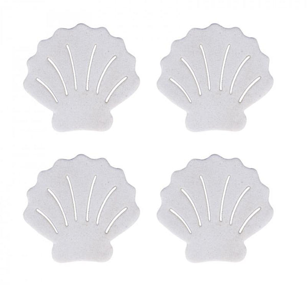 18 coquillages blancs 2.5 cm