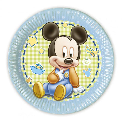 Table & jetable 8 assiettes baby mickey - Vivafiesta