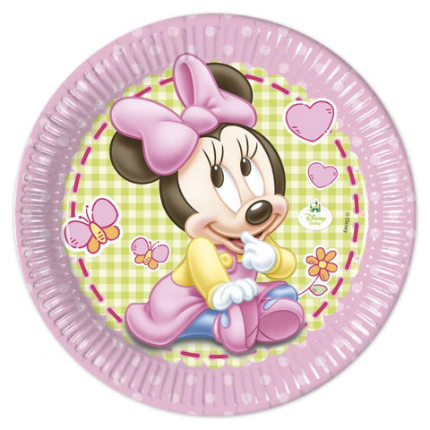 Table & jetable 8 assiettes baby minnie - Vivafiesta