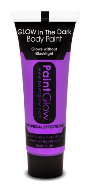 tube maquillage phosphorescent violet