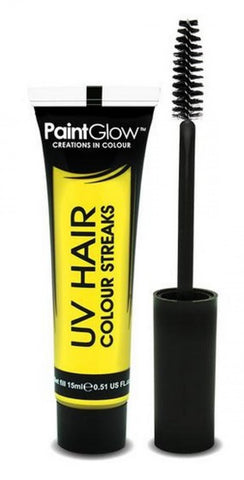 mascara cheveux phosphorescent jaune