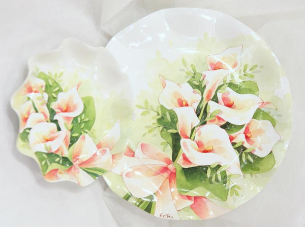 Table & jetable 10 assiettes arums - Vivafiesta