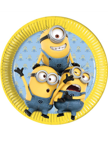 8 assiettes lovely minion
