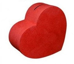 Urne coeur 41 cm - taille L - rouge
