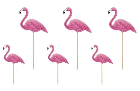 6 pics flamants roses