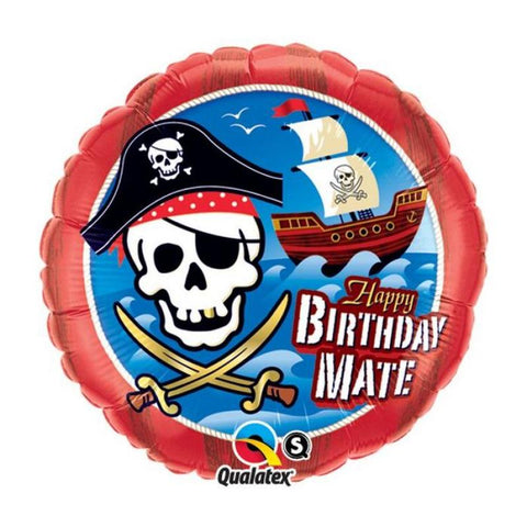 Ballon alu happy birthday pirate