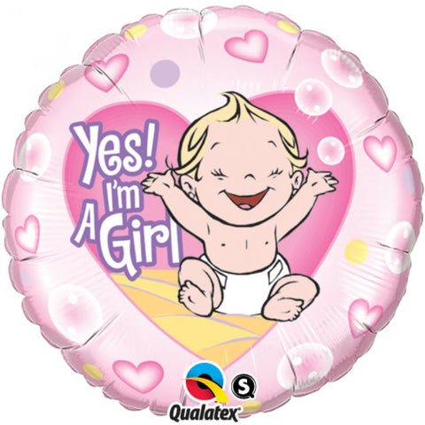 Ballon alu yes i'm a girl