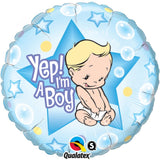 Ballon alu yep i'm a boy