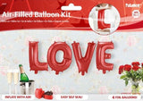 ballon aluminium 36 cm LOVE - rouge