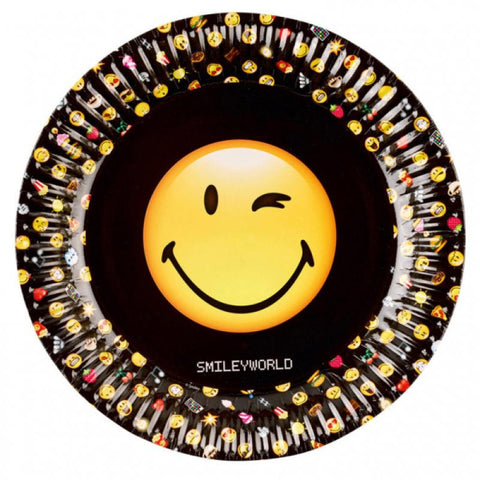 Table & jetable 8 assiettes smiley - Vivafiesta