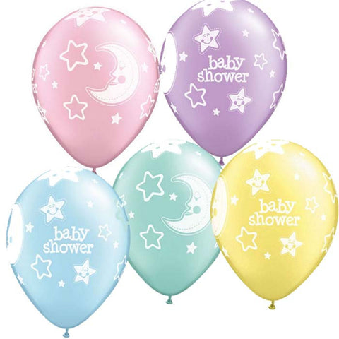 6 ballons baby shower