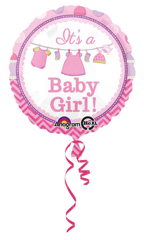 ballon aluminium baby shower - rose