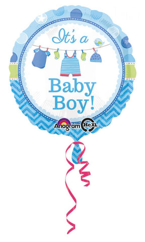 ballon aluminium baby shower - bleu