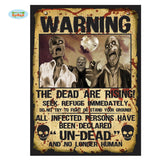 Affiches warning 28 x 38 cm - par 2