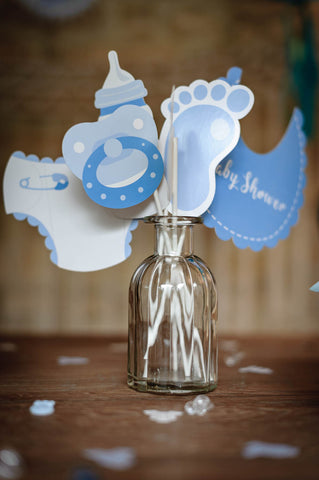 kit photobooth baby shower garçon 11 pcs