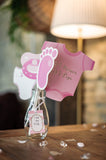 kit photobooth baby shower fille 11 pcs