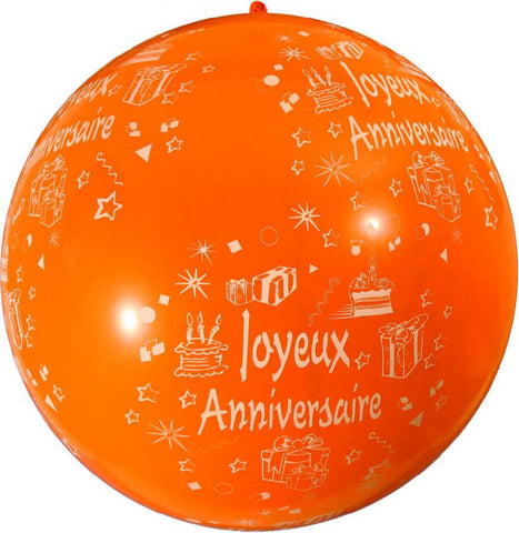 ballon géant anniversaire orange