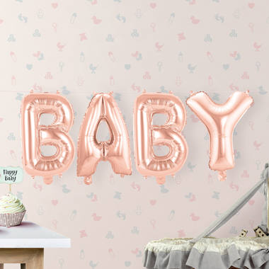 Kit ballon BABY mylar rose gold