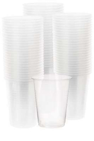 50 gobelets en plastique transparent 20cl