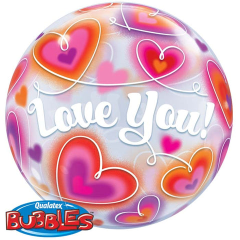 Ballon bubble love you