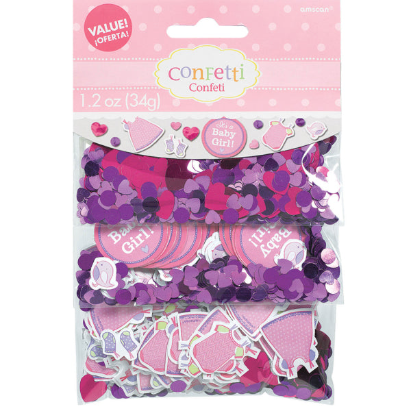 Confettis baby shower - rose