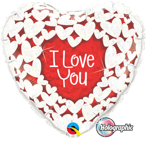 Ballon alu coeur i love you 45 cm