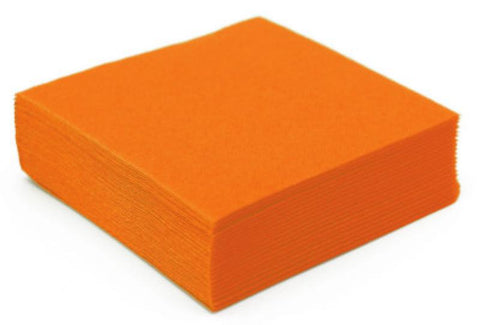 50 serviettes Cocktail 25x25 - mandarine