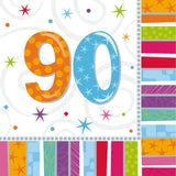 Table & jetable 16 serviettes 90 ans - Vivafiesta