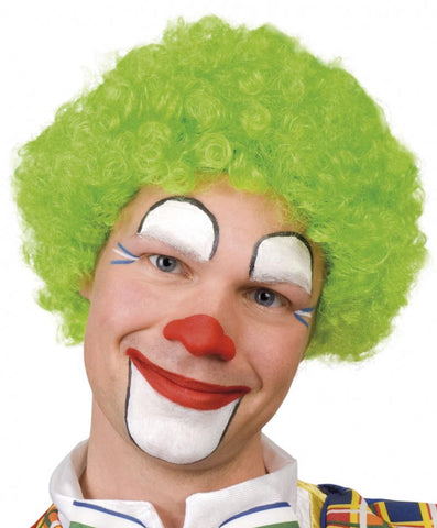 perruque pop clown verte