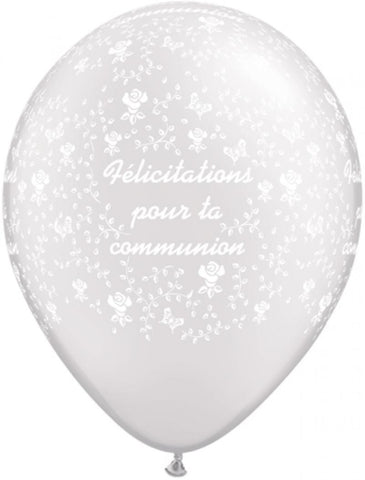 ballon communion félicitation 30 cm blanc