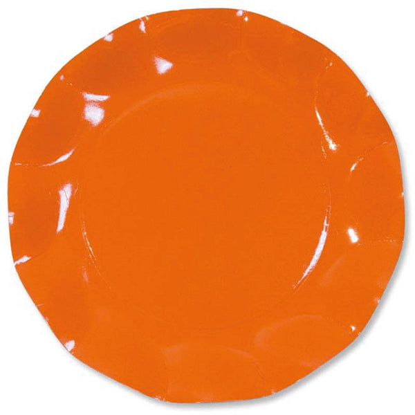 Assiettes 27 cm par 10 - orange